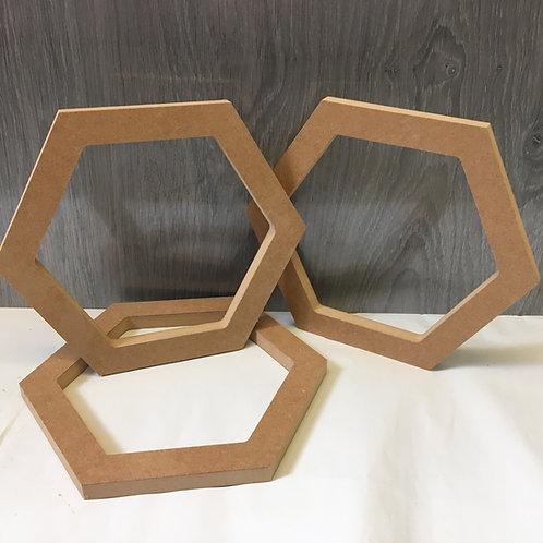 Giant 30cm Hollow Hexagons