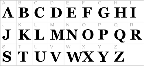 Georgia Bold Font Wall Letters