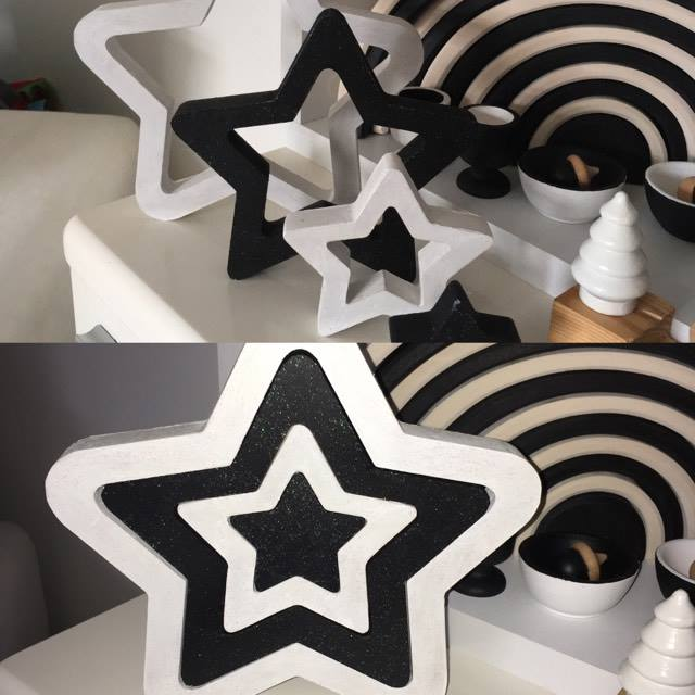 stars black and white