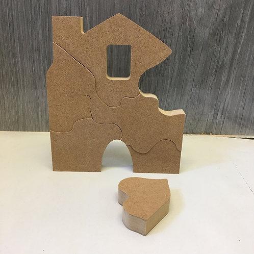6 Piece Puzzle House