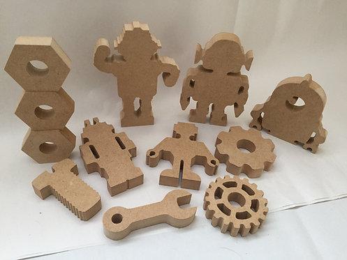 Mini Set Robot Shapes