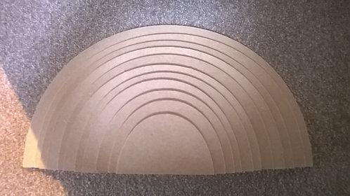 Set of 11 Semi Circles