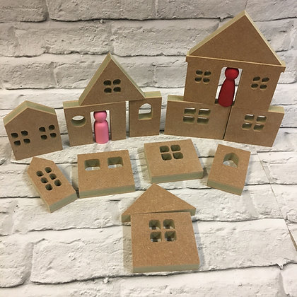 Stacking Houses 14 Piece Bundle