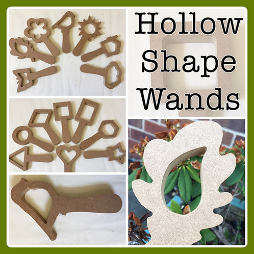 Hollow Shape Wands / Paddles