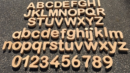 Chunky 7cm Alphabet and Number Sets 18mm