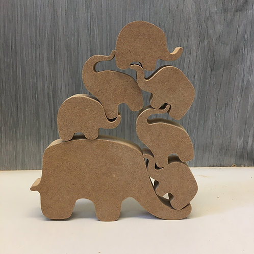Stacking / Following Elephant Family set