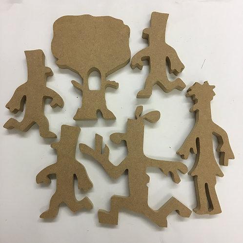 Stick Man Character Set