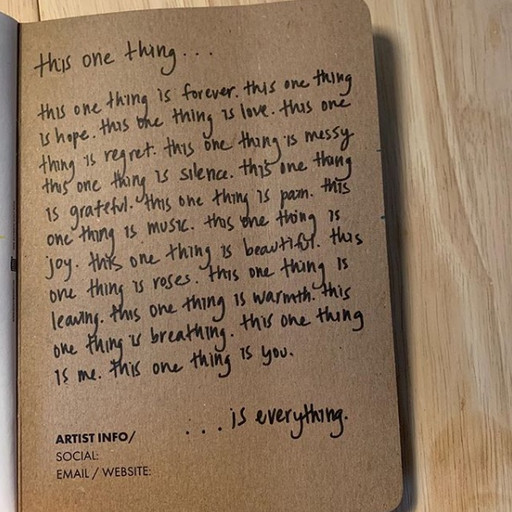 this one thing...