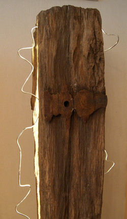 "Detail "" standing wood """