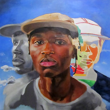 Themba Mwanza__Thanduxolo__Oil on Canvas