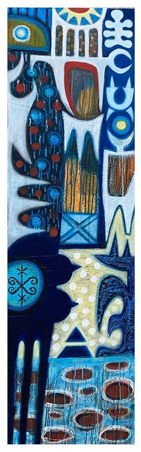Yemaeja, acrylic on canvas, 60''x18'', 2
