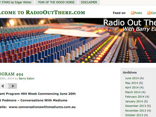 Radio Out There interview with Barry Eaton