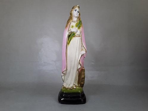 Virgen Santa Catalina - Yeso 20cm