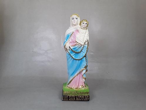 Virgen Rosario de San Nicolás - Yeso 15cm
