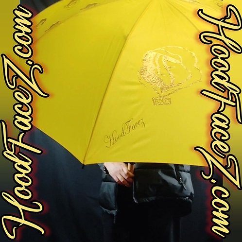 "62"" Gold Glitter on Yellow Umbrella"
