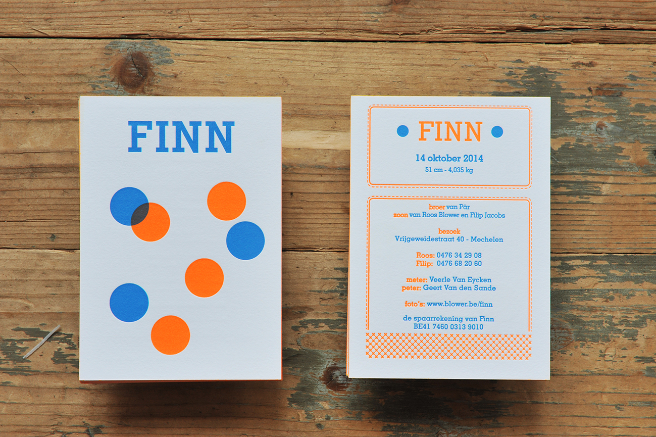 birth card Finn