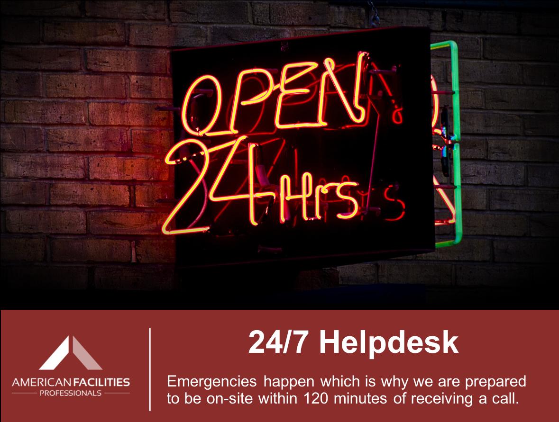 24/7 Helpdesk