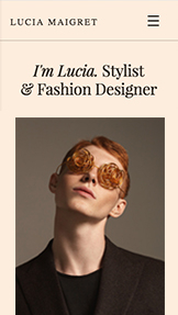 Fashion & Accessories website templates – Wardrobe Stylist
