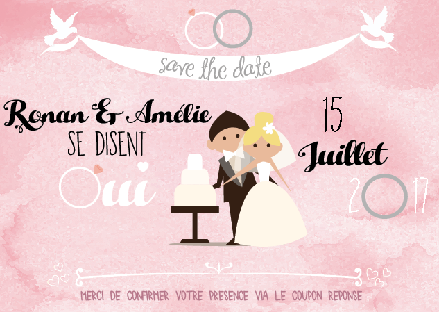 Save the date Amelie