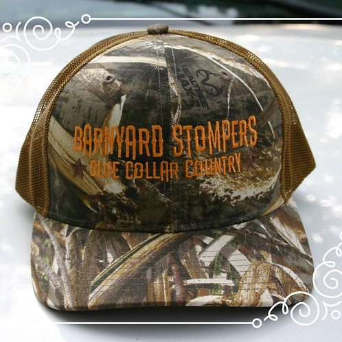 Richardson 112 Camo Cap- Blue Collar Design
