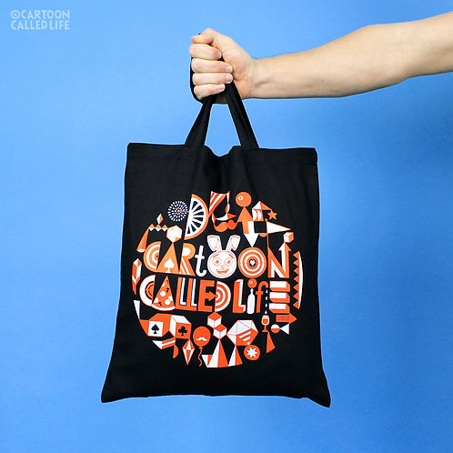 COTTON TOTE BAG 'MONOGRAM'