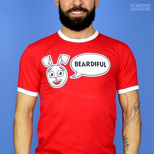 T-SHIRT 'BEARDIFUL' RED