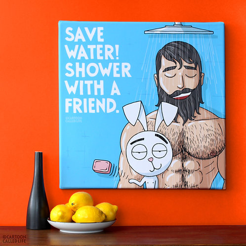 CANVAS 'SAVE WATER'