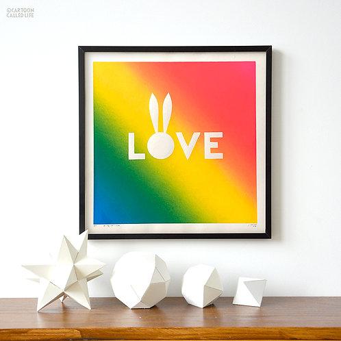 ARTWORK 'LOVE' TROPICAL