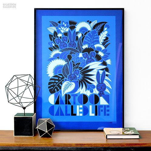 ARTWORK 'JUNGLE BLUE'
