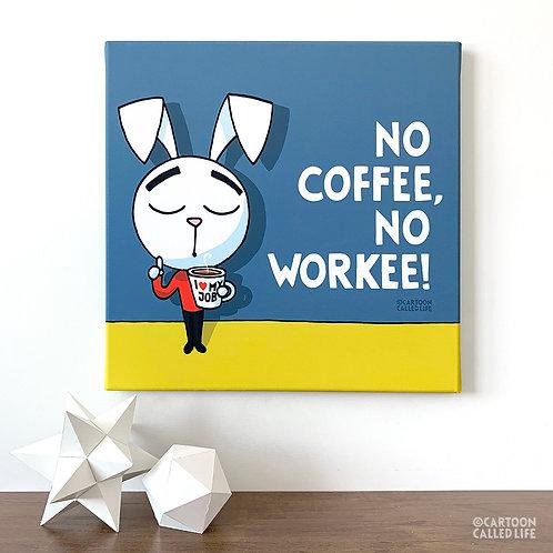CANVAS 'NO COFFEE'
