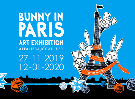 """Bunny in Paris"", the second art exhibition of Cartoon Called Life"