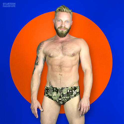 SWIM BRIEF 'MONOGRAM'