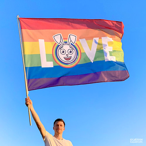 RAINBOW FLAG 'LOVE'