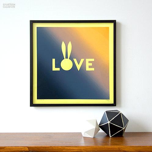 ARTWORK 'LOVE' YELLOW
