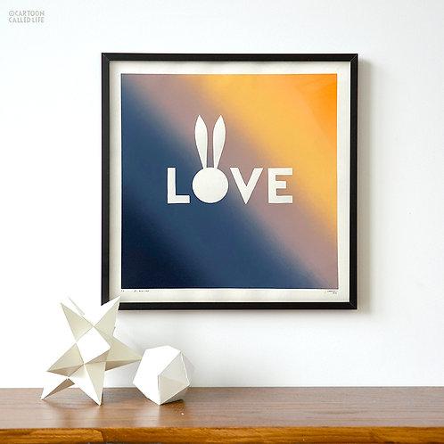 ARTWORK 'LOVE' BEAR