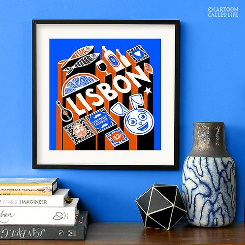 ARTWORK 'LISBON' BLUE