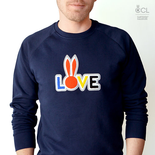 SWEATSHIRT 'LOVE' FRENCH NAVY