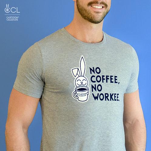 T-SHIRT 'COFFEE' HEATHER GREY