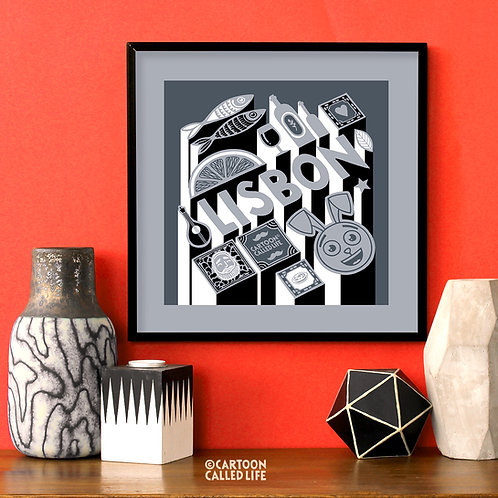 ARTWORK 'LISBON' GREY