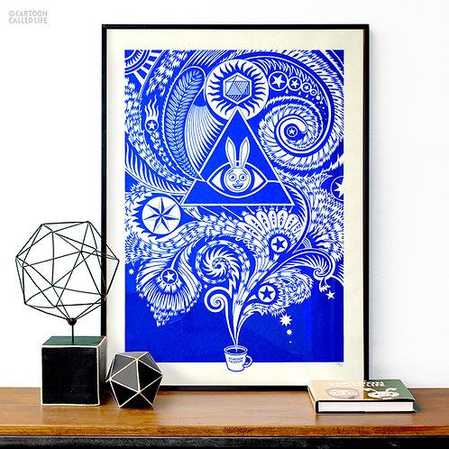 ARTWORK 'COFFEE MAGIC' BLUE