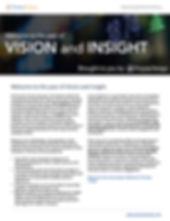 Screenshot of year of vision and insight