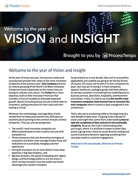 Screenshot of year of vision and insight