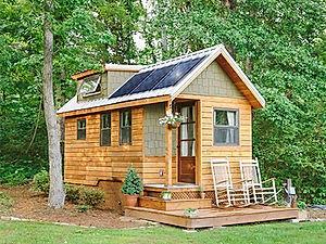 Off-Grid solar cabin