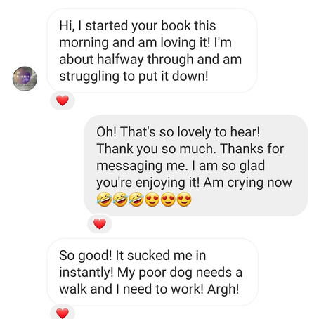MESSAGES FROM ROMANCE READERS