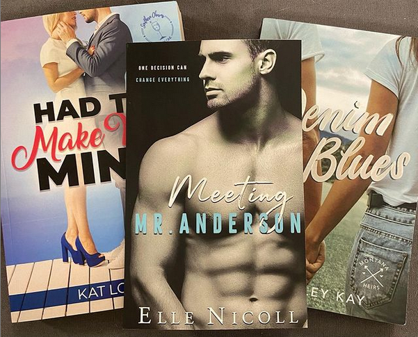 A series of romance books included in the Hidden Treasures Bookbox