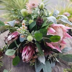 Native bridal bouquet in pink.