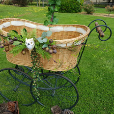 Woodland themed bassinet which is used mostly for baby showers and gender reveals.