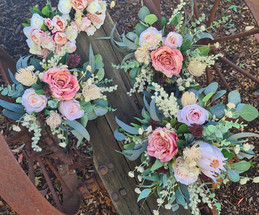 Artificial bridal flower set. Blush pink natives.