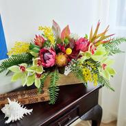 Native bright coloured mixed arrangement.