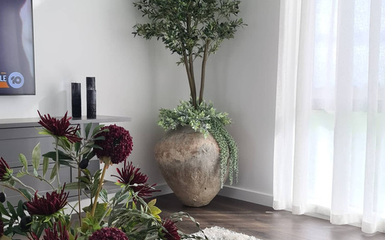 Artificial Olive tree.